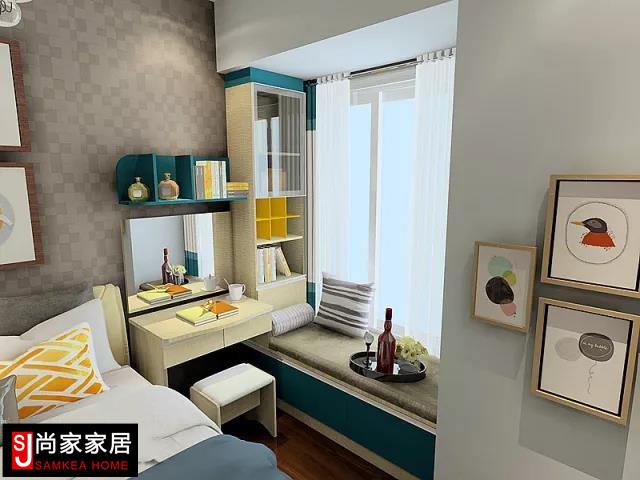 卧室风格系列卧房生活方式系列衣柜衣帽间飘窗利用电视柜组合定制床书桌书柜组合梳妆柜组合